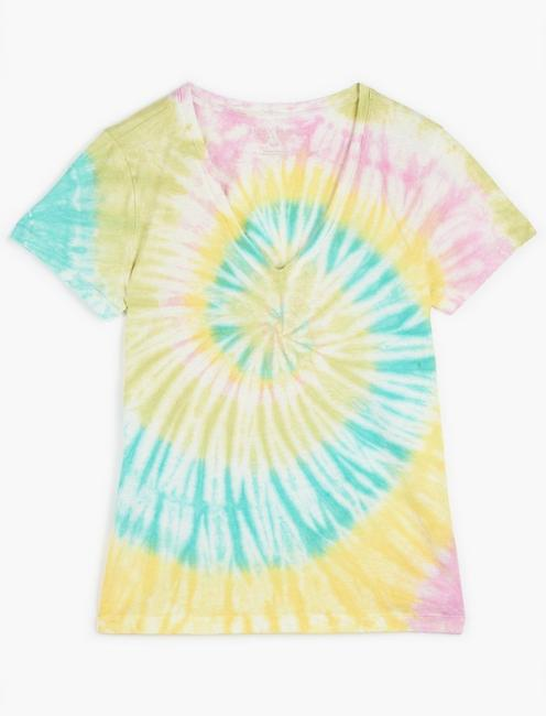 ESSENTIAL V-NECK TEE, YELLOW MULTI