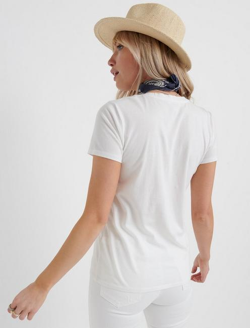 ONE POCKET TEE, LUCKY WHITE