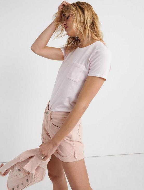 ONE POCKET TEE, PRIMROSE PINK, productTileDesktop