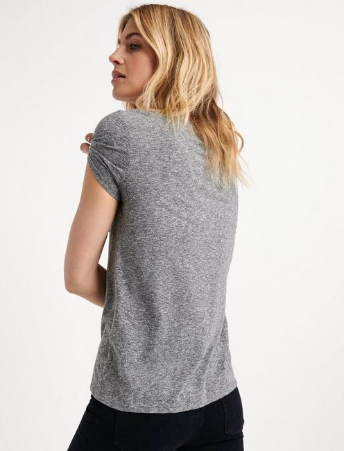 ONE POCKET TEE, HEATHER GREY