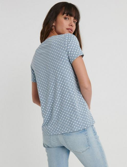 ESSENTIAL CREW NECK TEE, POLKA DOT