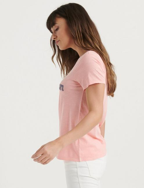 LAUREL CANYON TEE, PEACH AMBER
