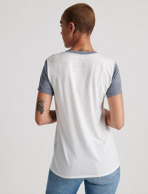 WOODSTOCK COLORBLOCK TEE, LUCKY WHITE
