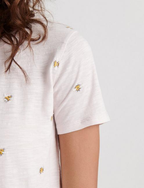 ALLOVER BEES TEE, PRIMROSE PINK