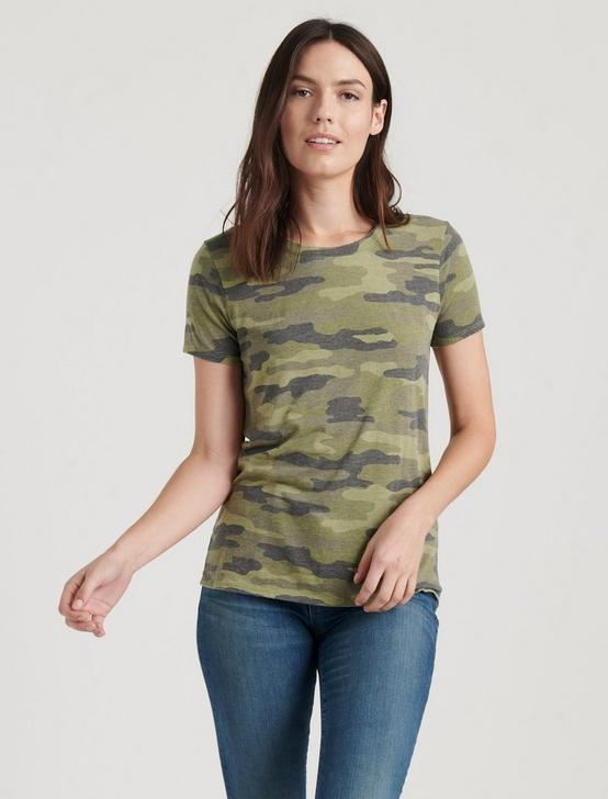 CAMO CREW NECK  TEE, GREEN MULTI, productTileDesktop