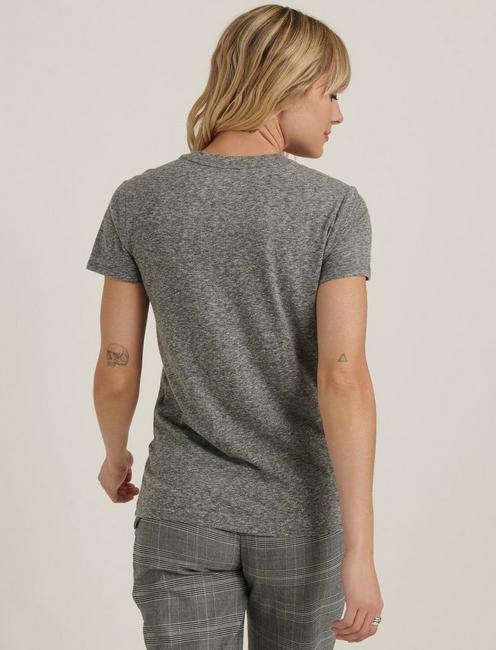 MELROSE AVE TEE, HEATHER GREY