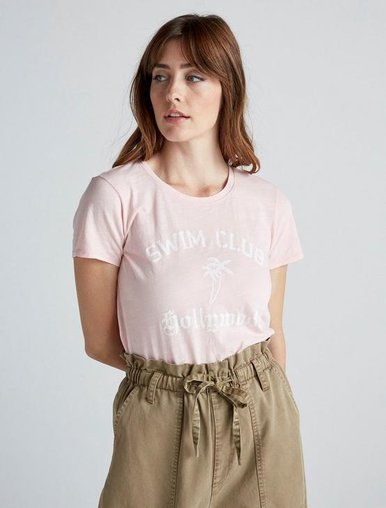 SWIM CLUB HWOOD TEE, CHALK PINK, productTileDesktop