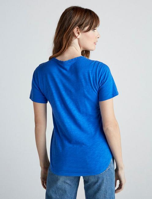 EMBROIDERY AND LACE TEE, COBALT BLUE
