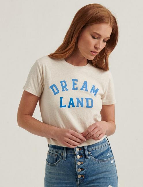 DREAM LAND CREW TEE, OATMEAL HEATHER