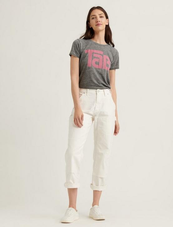 TAB COLA TEE, HEATHER GREY, productTileDesktop