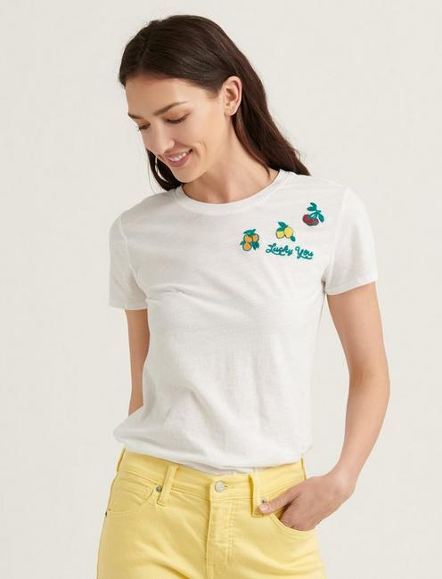 EMBROIDERED FRUIT TEE,