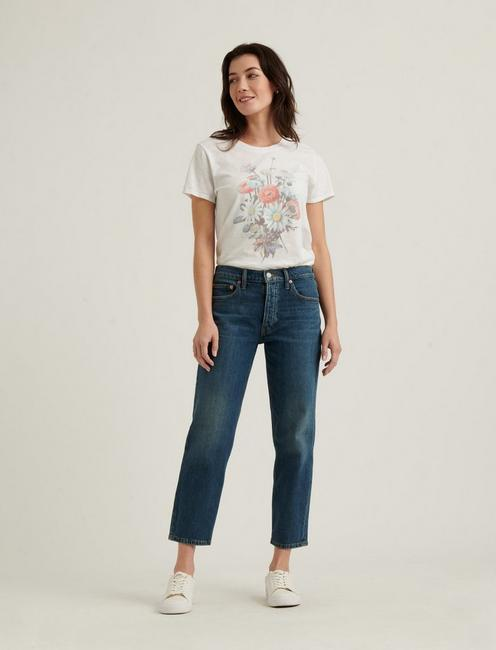 ANTIQUE BOUQUET TEE, LUCKY WHITE