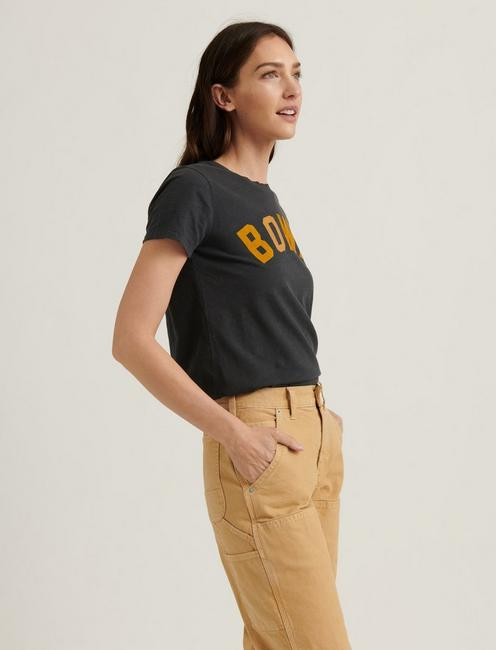 BOWIE RISE AND FALL CREW TEE, JET BLACK