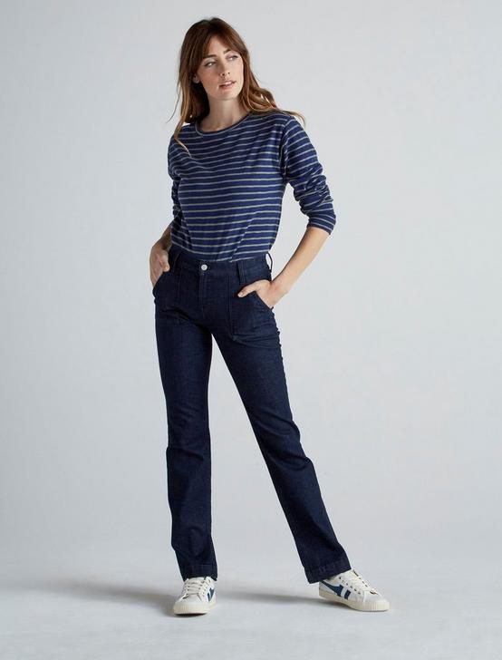 INDIGO EASY STRIPE TEE, INDIGO STRIPE, productTileDesktop