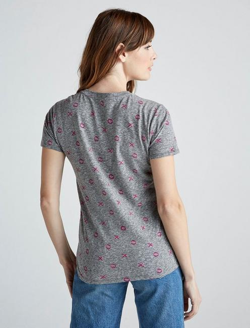 ALL OVER XOXO TEE, HEATHER GREY