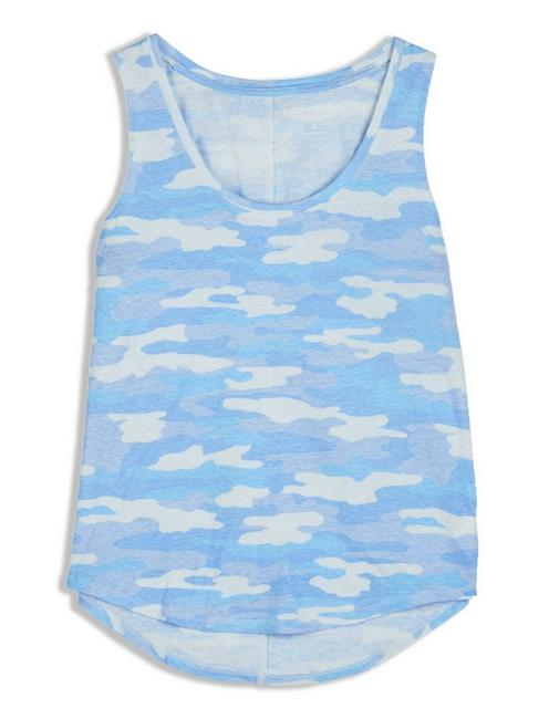 CAMO SCOOP NECK TANK,