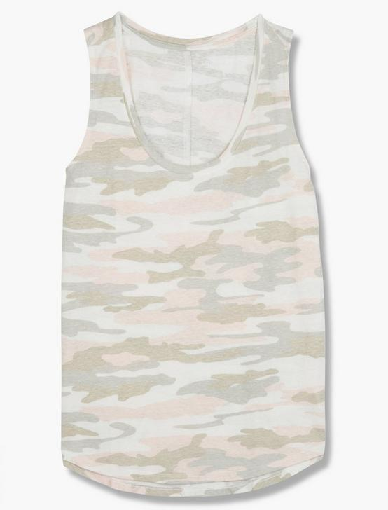 CAMO SCOOP NECK TANK, PINK CAMOFLAUGE, productTileDesktop