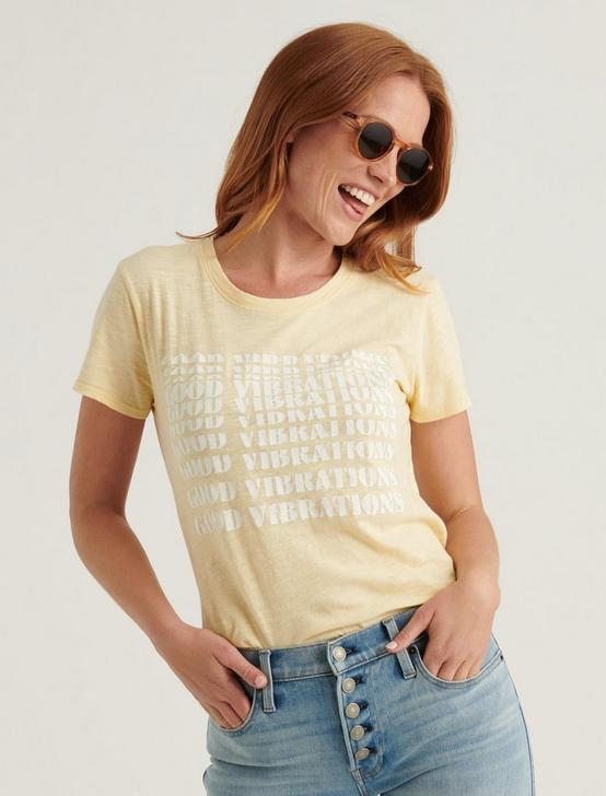 GOOD VIBES TEE, MELLOW YELLOW, productTileDesktop