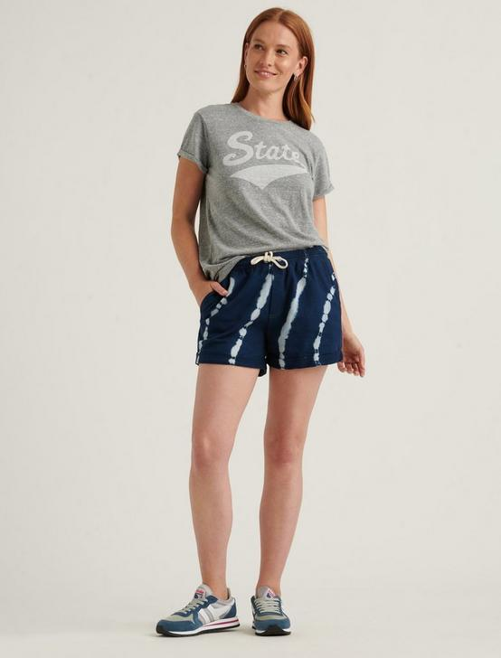 STATE RELAXED ROLL CUFF TEE, HEATHER GREY, productTileDesktop