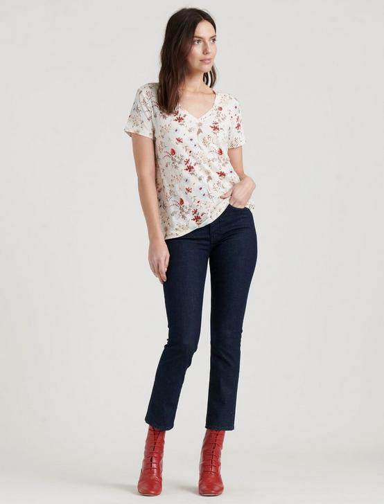 PRINTED CLASSIC V-NECK TEE, MULTI, productTileDesktop