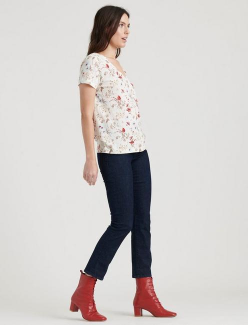 PRINTED CLASSIC V-NECK TEE, MULTI