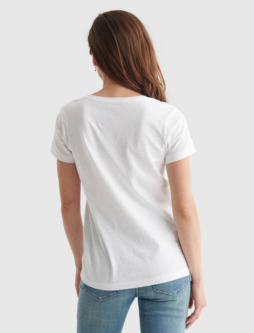 ESSENTIAL V-NECK TEE, BRIGHT WHITE