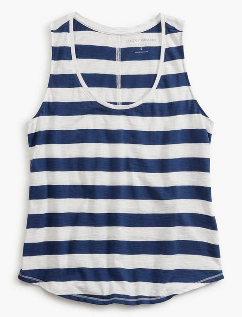 STRIPE ESSENTIAL TANK, COBALT STRIPE