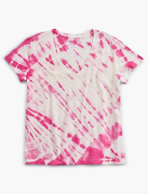 PRINTED ESSENTIAL V-NECK TEE,