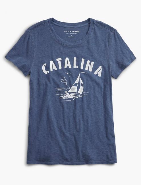 CATALINA SAILING TEE, BLUE DEPTHS