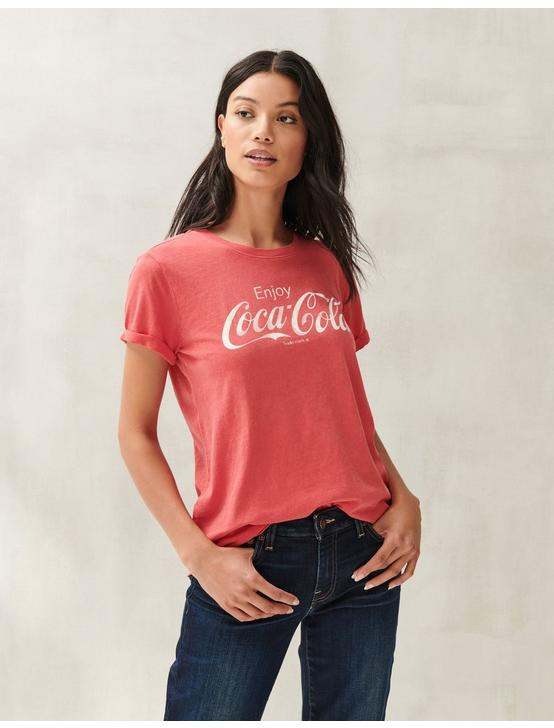 COCA COLA LOGO TEE, RIBBON RED #19-1663 TCX, productTileDesktop