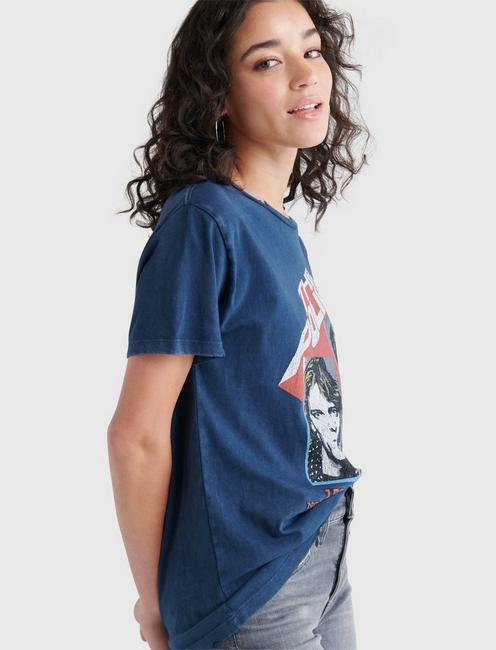 POLICE GRAPHIC TEE, #4963 BLUE NIGHTS