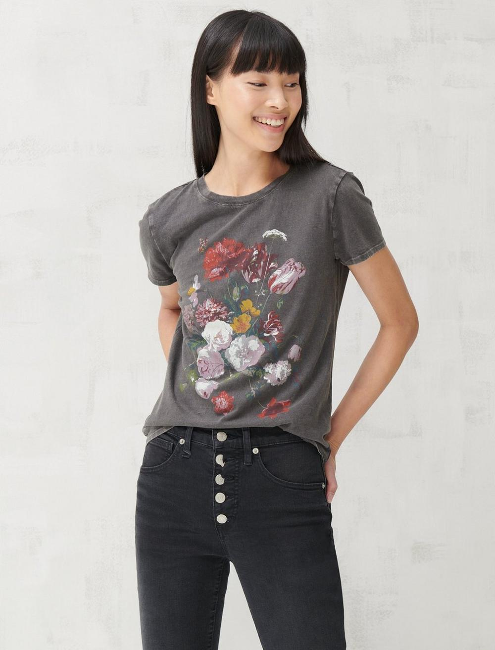 MULTI FLORAL CLASSIC TEE, image 1