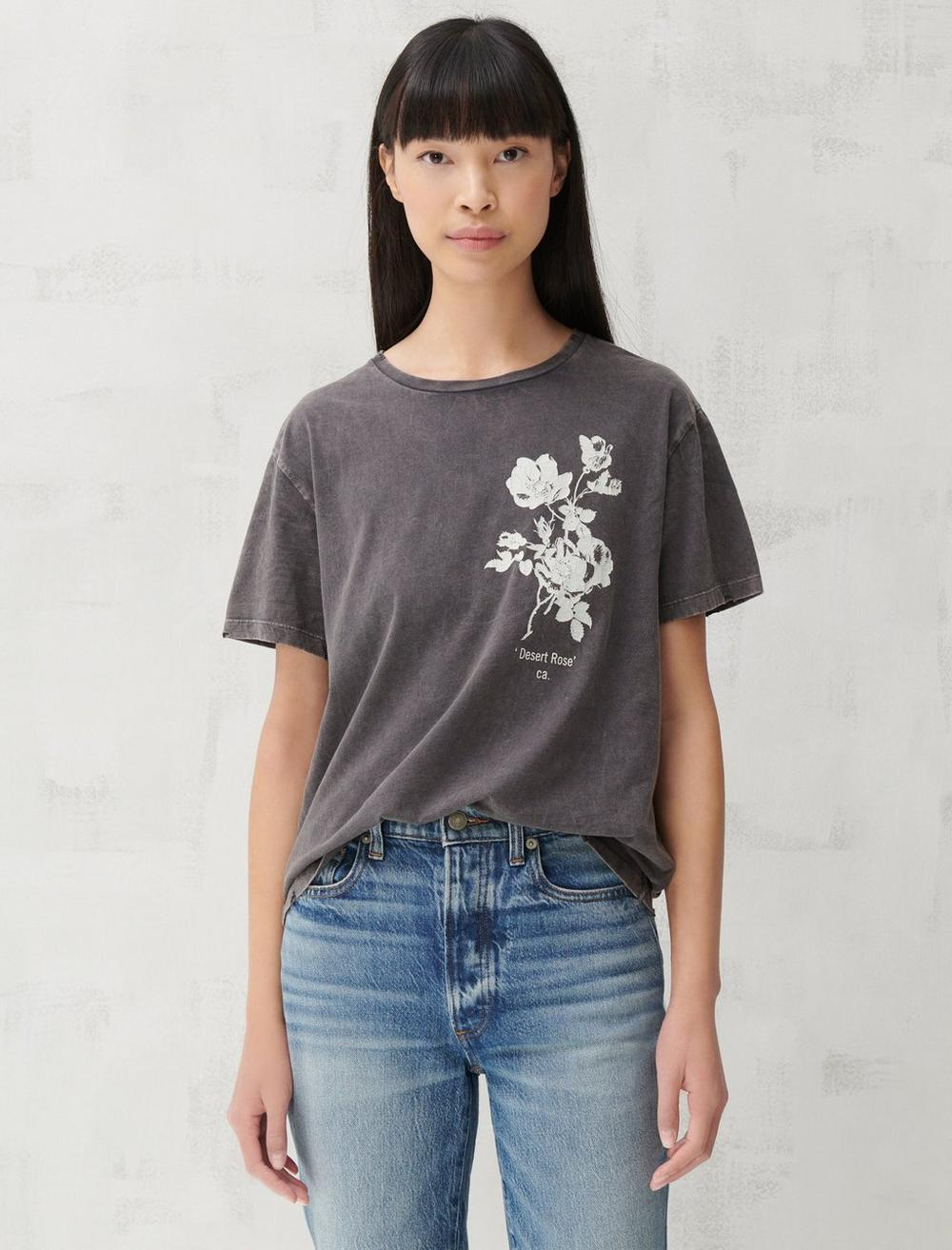 FLORAL PLACED BOYFRIEND TEE, image 1