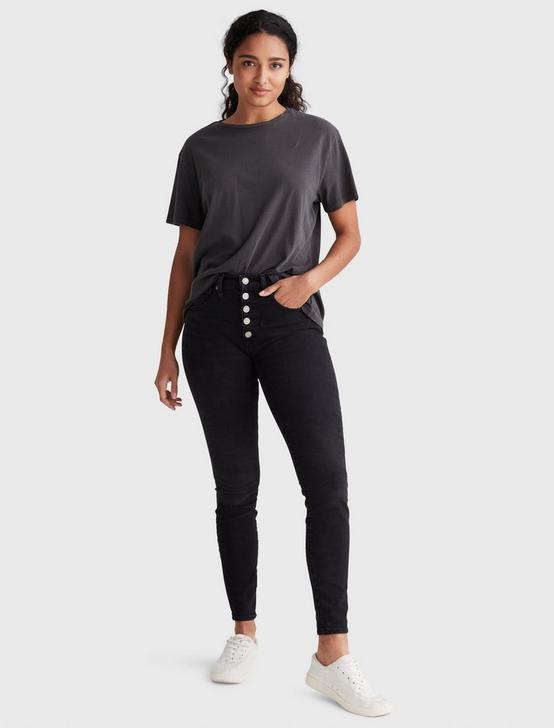 SOLID BOYFRIEND TEE BLOCK, JET BLACK, productTileDesktop