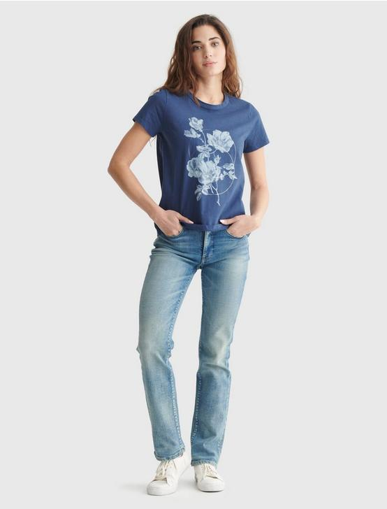 FEMME FLORAL CLASSIC CREW TEE, AMERICAN NAVY, productTileDesktop