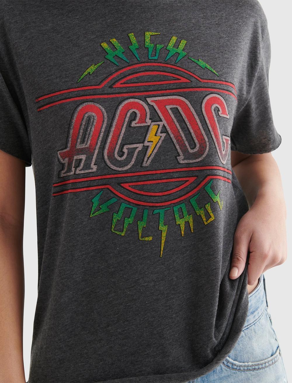AC/DC HIGH VOLTAGE GRAPHIC BOYFRIEND TEE, image 4