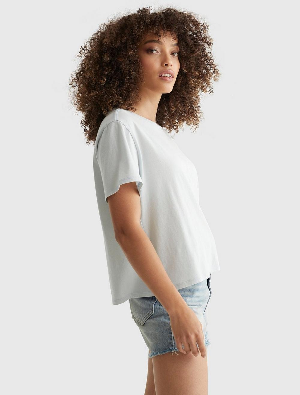 EMBROIDERED MIS FLORAL CROP TEE, image 3