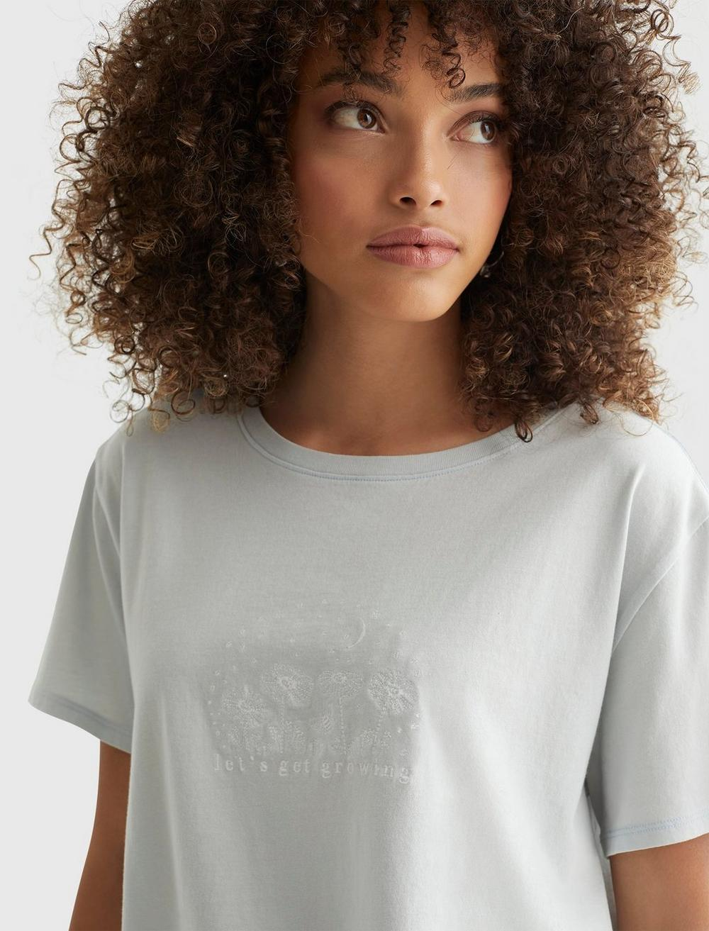 EMBROIDERED MIS FLORAL CROP TEE, image 5