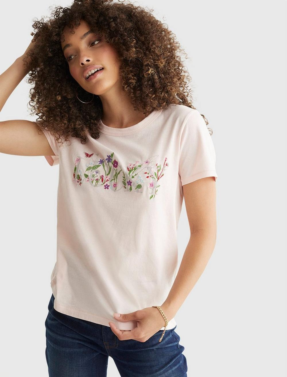 LUCKY EMBROIDERED CLASSIC CREW, image 1