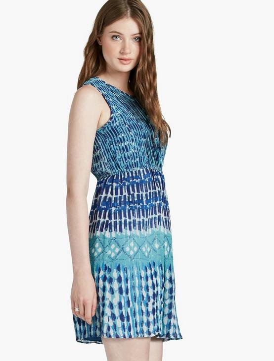 BLUE SHINE DRESS, BLUE MULTI, productTileDesktop