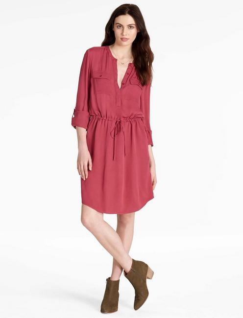 WAISTED SHIRT DRESS,