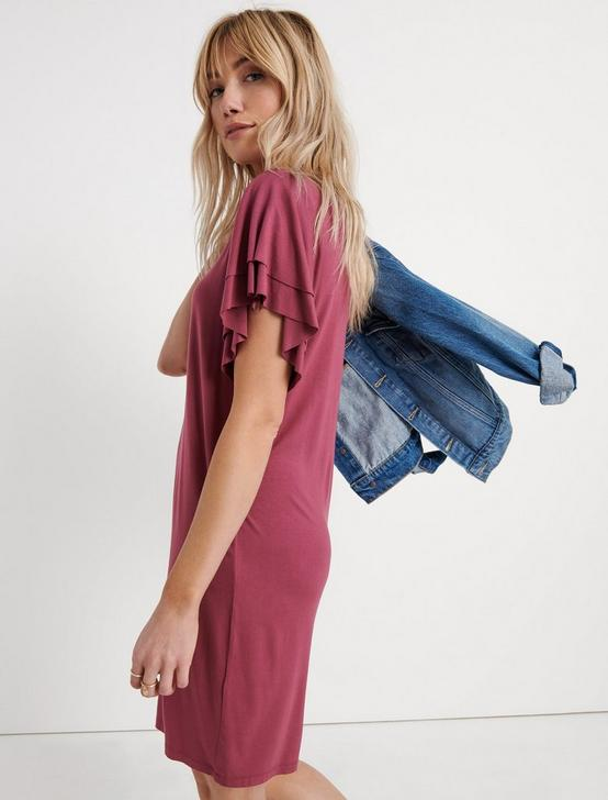 SANDWASH TEE DRESS, MAROON, productTileDesktop