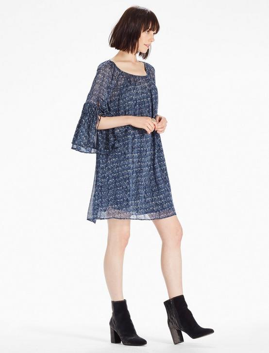 RUFFLE DRESS, BLUE MULTI, productTileDesktop