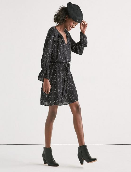 PARACHUTE BELL SLV DRESS, BLACK MULTI, productTileDesktop
