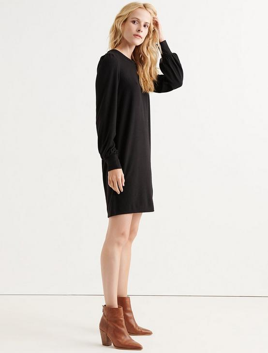 CLOUD JERSEY DRESS, 001 LUCKY BLACK, productTileDesktop