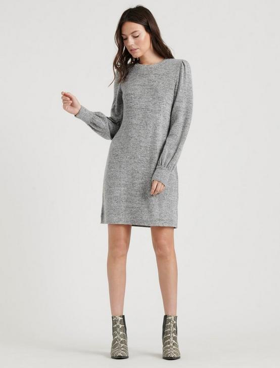 CLOUD JERSEY DRESS, HEATHER GREY, productTileDesktop