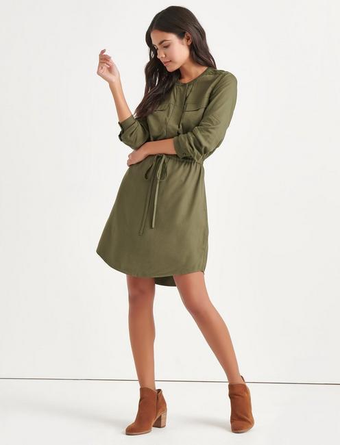 JACQUARD SHIRT DRESS,