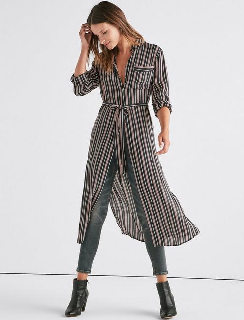 STRIPE SHIRT DRESS,