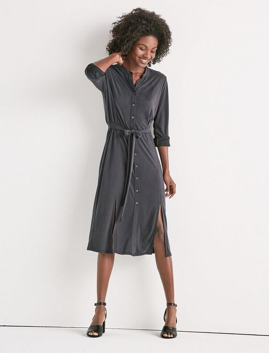 SANDWASH SHIRT DRESS, 001 LUCKY BLACK, productTileDesktop