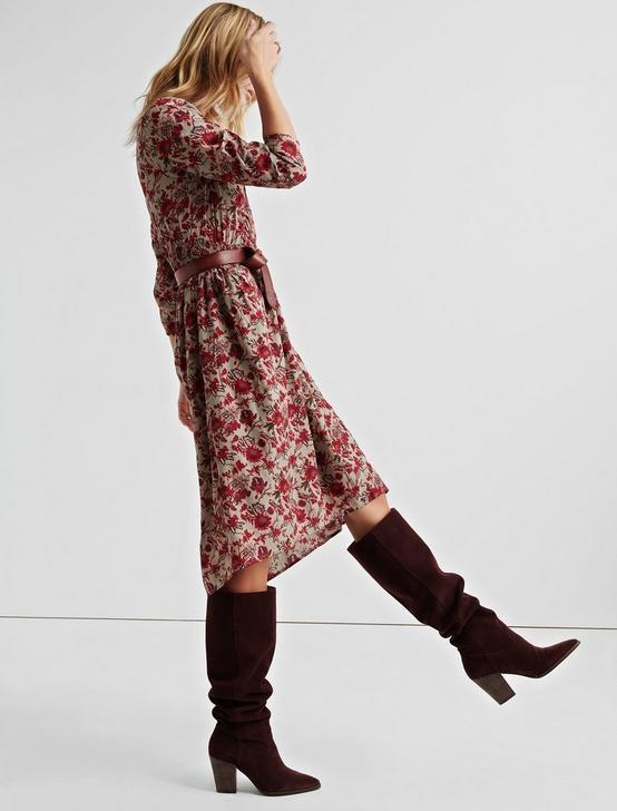 BOLD FLORAL DRESS, OLIVE MULTI, productTileDesktop